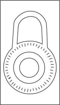 Combination lock round