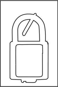 Digital padlock 35/40mm